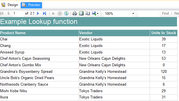 Lookup functions SSRS - Perview LookupFunction example