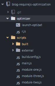 Javascript loading using require js